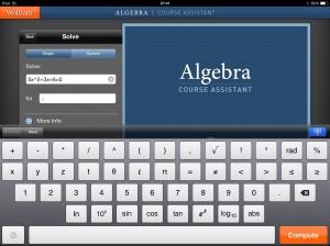 Wolfram Alfa Algebra