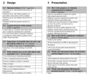Analysing Practical